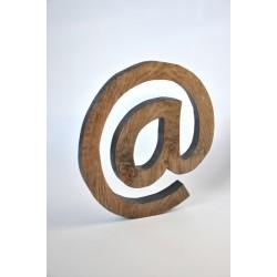Litera - symbol @ - drewniana, dębowa - OLDTREE