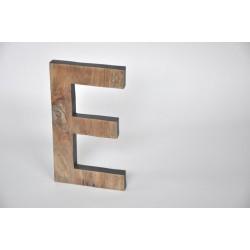 Litera - E - drewniana - OLDTREE