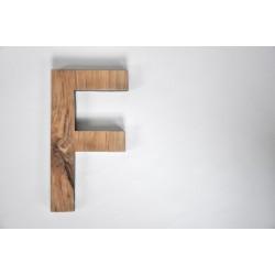 Litera - F - drewniana - OLDTREE
