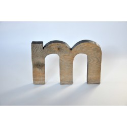 Litera - m - drewniana - OLDTREE