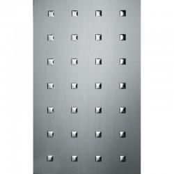 PL 3D Q-10-40-40 Silver brushed / Silver mata dekoracyjna Sibu Design