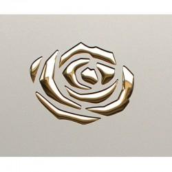 PL 3D ROSES Champagne PF met / Gold mata dekoracyjna Sibu Design