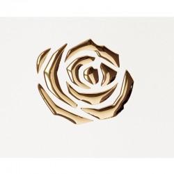 PL 3D ROSES Pearl White / Gold mata dekoracyjna Sibu Design