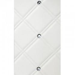 CR Cristal Rombo 85 Bianco matt / Silver mata dekoracyjna Sibu Design