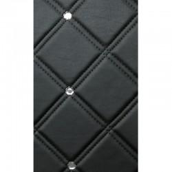CR Cristal Rombo 85 Nero matt / Silver mata dekoracyjna Sibu Design