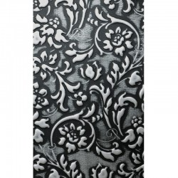 LL Floral Black / Silver matt mata dekoracyjna Sibu Design