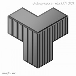 MODULOSTYLING INFINI  STALOWY SZARY METALIK MAT UN5003
