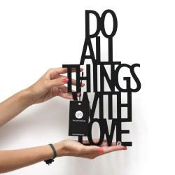 Napis dekoracyjny 3D na półkę DO ALL THINGS WITH LOVE DekoSign