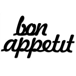 Napis na ścianę 3D BON APPETIT DekoSign