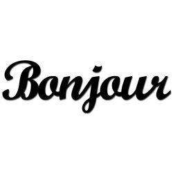 Napis na ścianę 3D  BONJOUR1-1 DekoSign