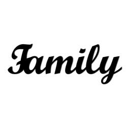 Napis na ścianę 3D FAMILY DekoSign