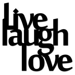 Napis na ścianę 3D LIVE LAUGH LOVE DekoSign