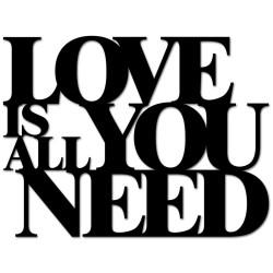 Napis na ścianę 3D LOVE IS ALL YOU NEED DekoSign